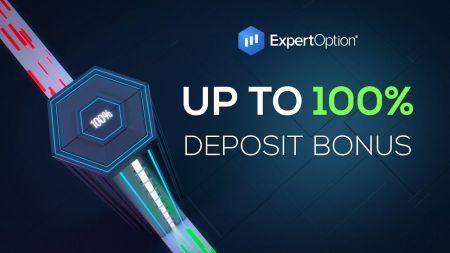 ExpertOption欢迎促销-100%存款奖金高达$ 500